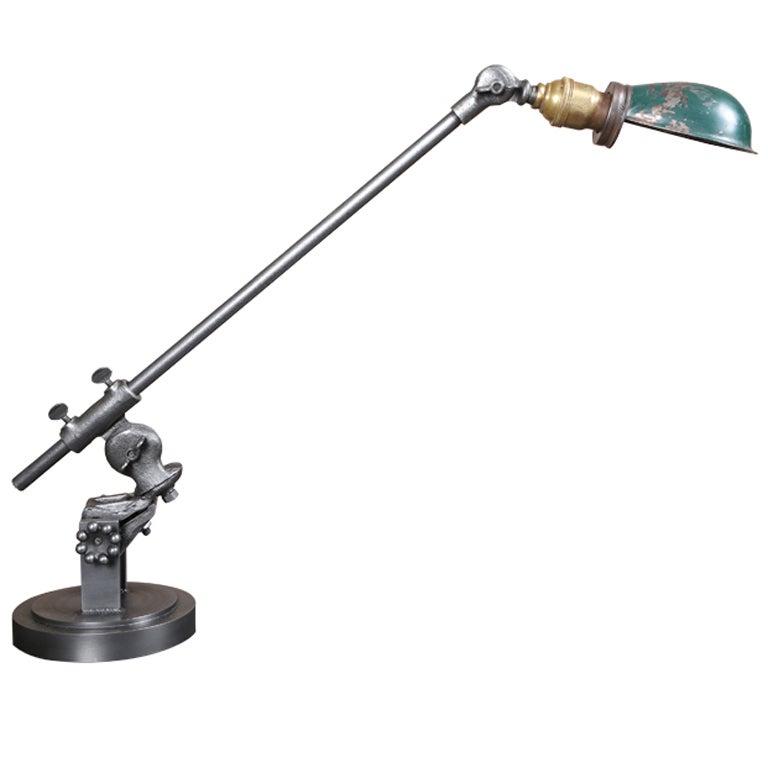 industrial lighting side table desk lamp made in usa at 1stdibs. Black Bedroom Furniture Sets. Home Design Ideas