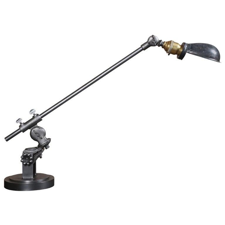 industrial lighting vintage side table desk lamp made in usa at. Black Bedroom Furniture Sets. Home Design Ideas