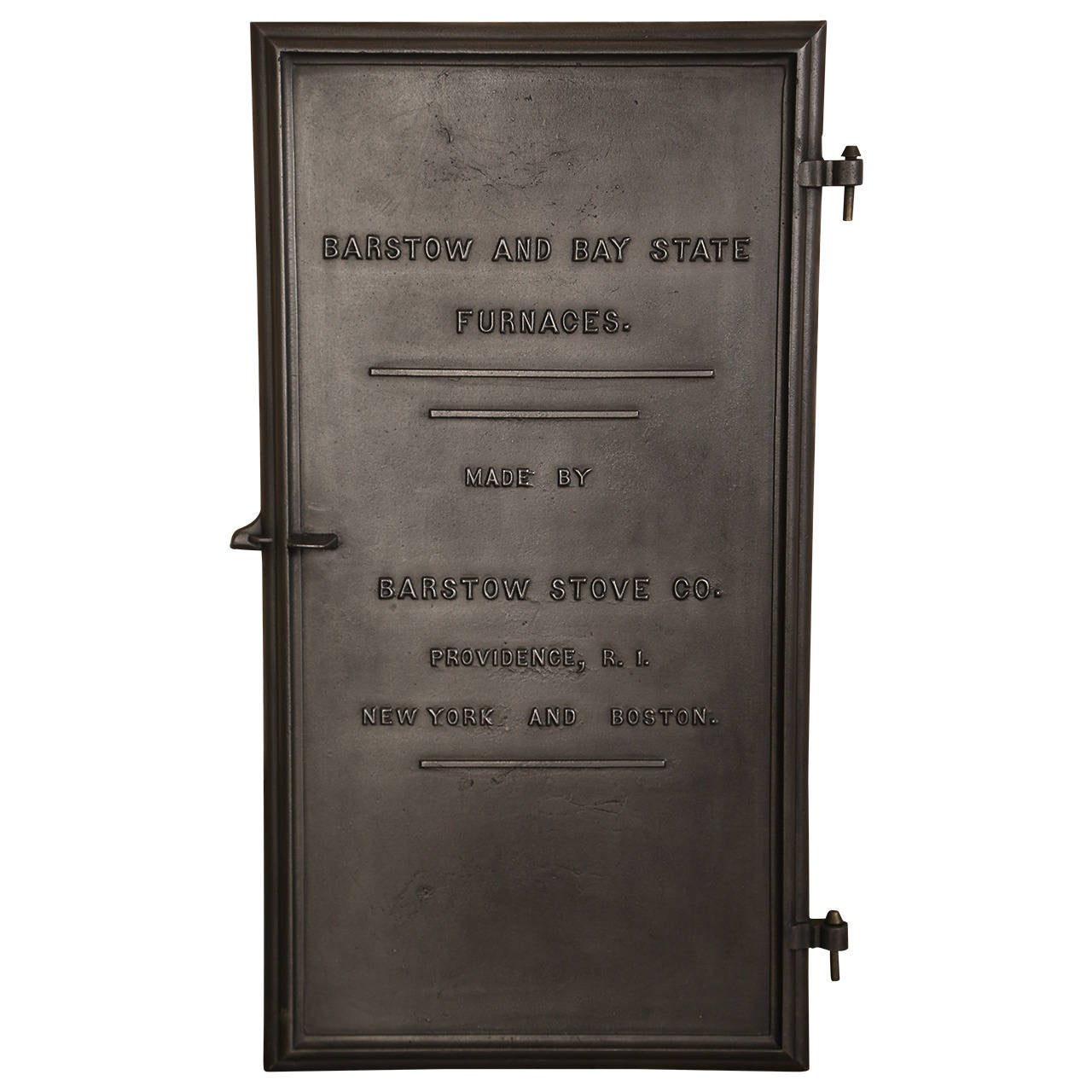 Vintage Industrial Doors For Sale : Vintage industrial barstow and bay state furnace door at