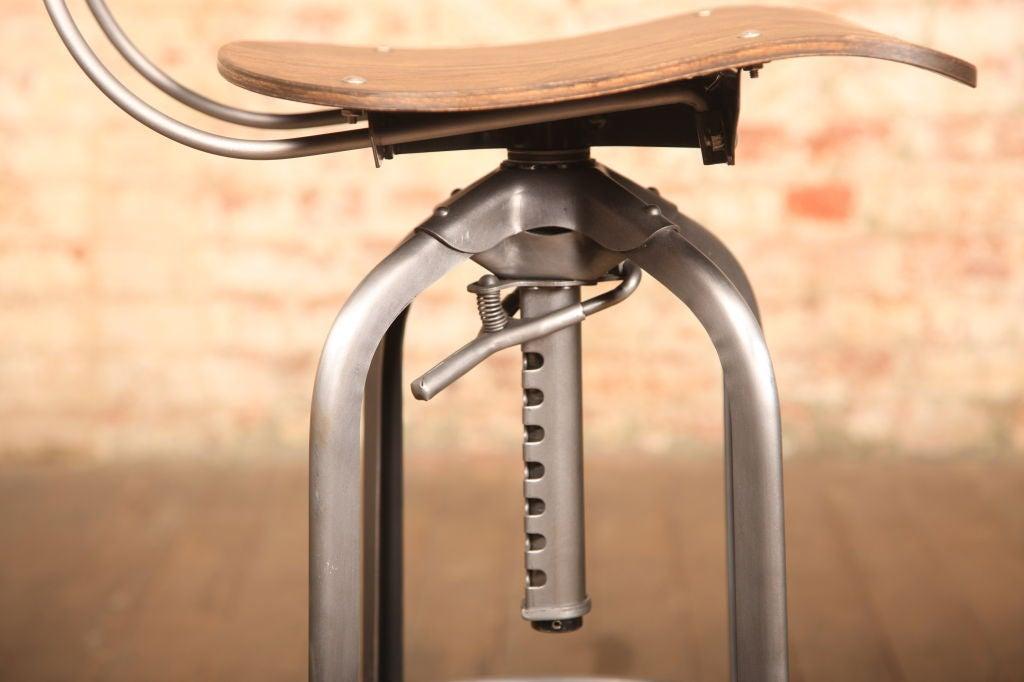 Vintage Industrial Adjustable Toledo Stool At 1stdibs