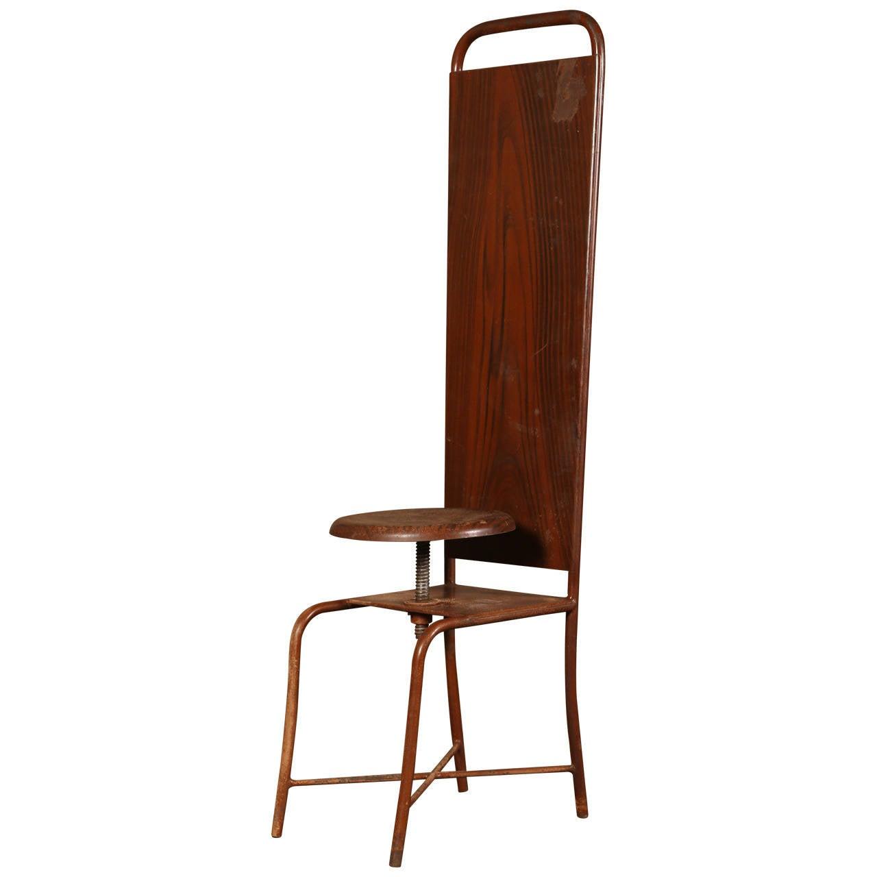 Original, Vintage Adjustable Medical Stool or Chair 1