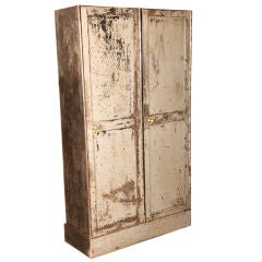 Vintage Two Door Metal Coat Closet