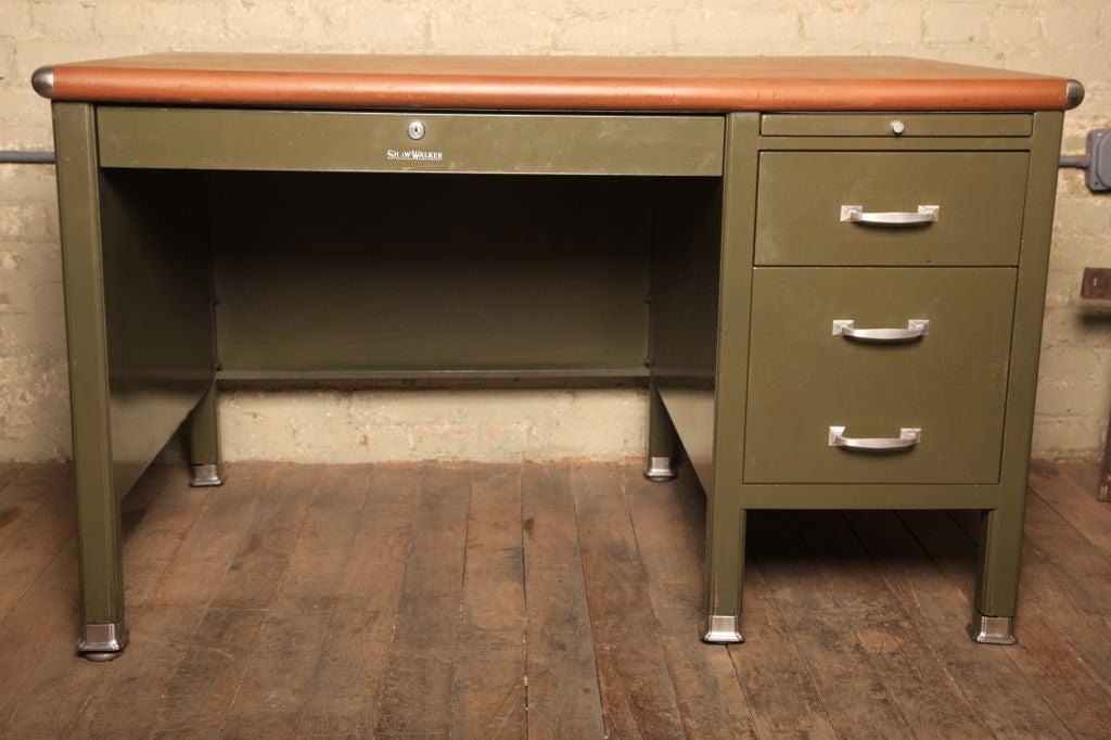Shaw Walker Single Pedestal Flat Top Desk 295034 1 At