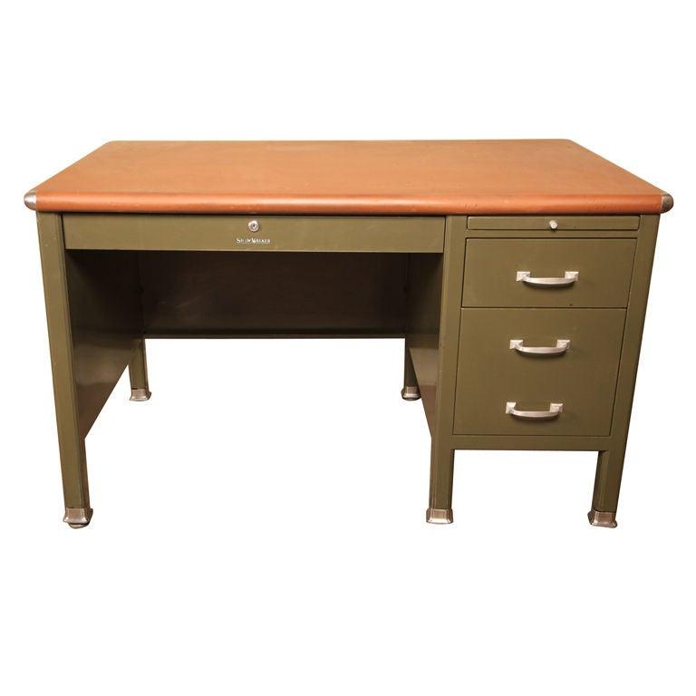Shaw Walker Single Pedestal Flat Top Desk 295034 1 At 1stdibs