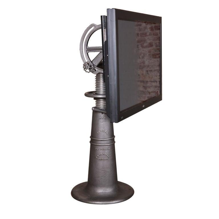 Vintage Industrial Adjustable Flat Screen Tv Stand At 1stdibs
