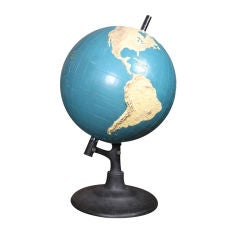 """Vintage Globe """"Solely for the use of the blind"""""""