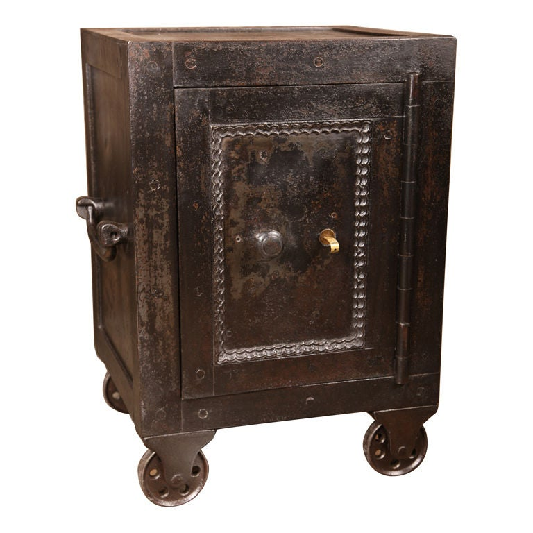 Vintage Safe On Casters At 1stdibs