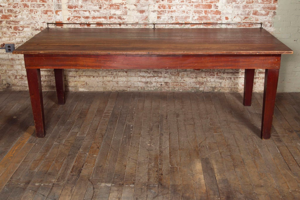 Original vintage wooden store display table at stdibs