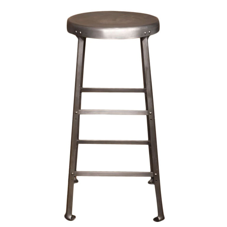 Vintage Industrial Metal Bar Stools At 1stdibs