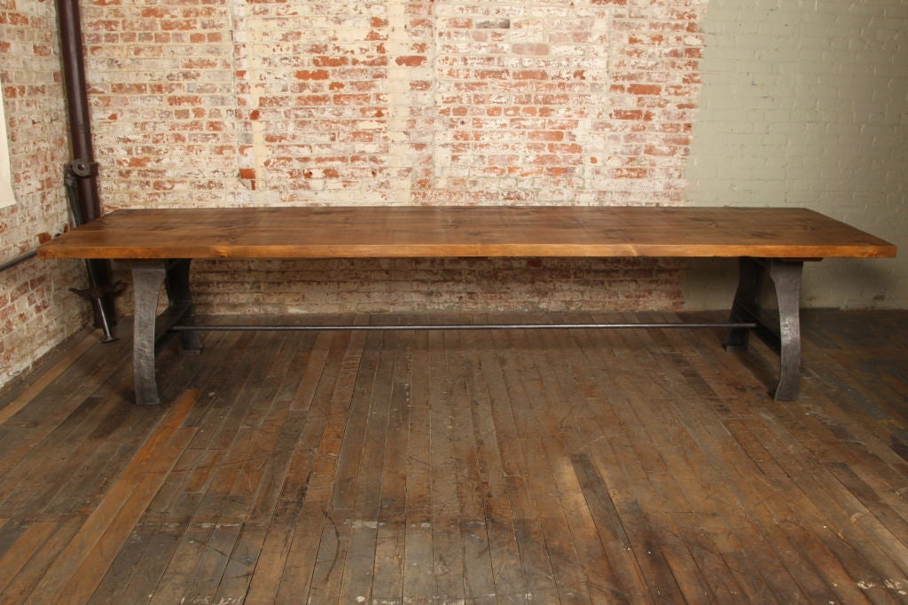 Vintage Industrial Dining/Display Table at 1stdibs