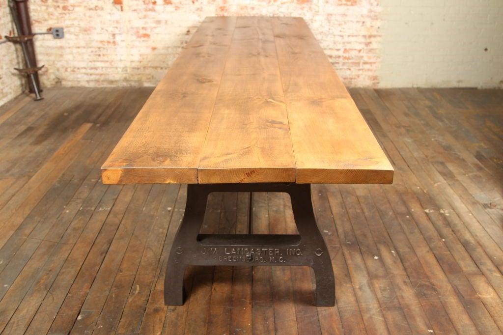 Vintage Industrial Dining/Display Table at 1stdibs