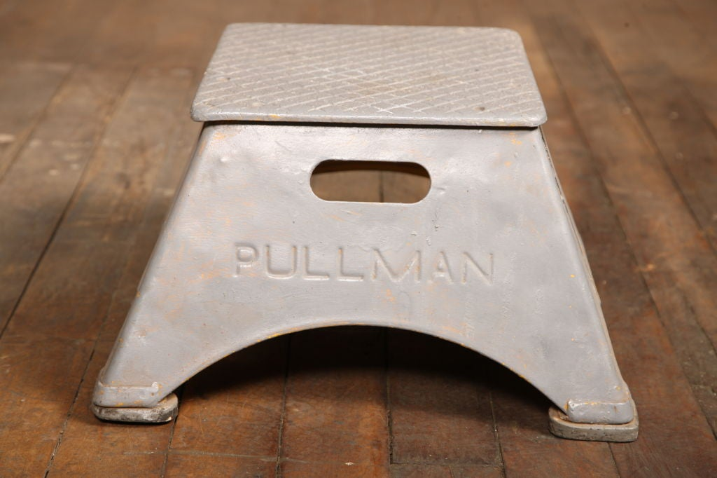 "Vintage ""Pullman"" Train Station Step Stool image 5"