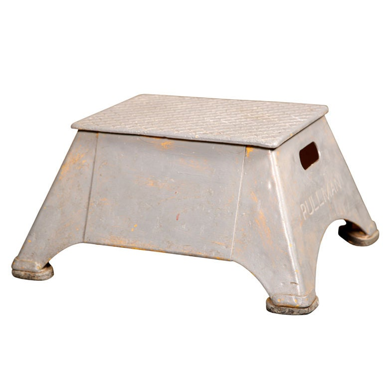 "Vintage ""Pullman"" Train Station Step Stool"
