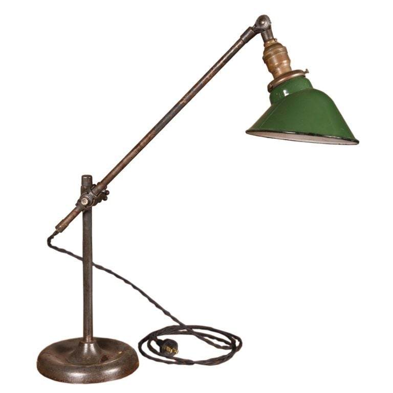 Workbench Lights Vintage: Vintage Adjustable O.C. White Industrial Bench Lamp At 1stdibs