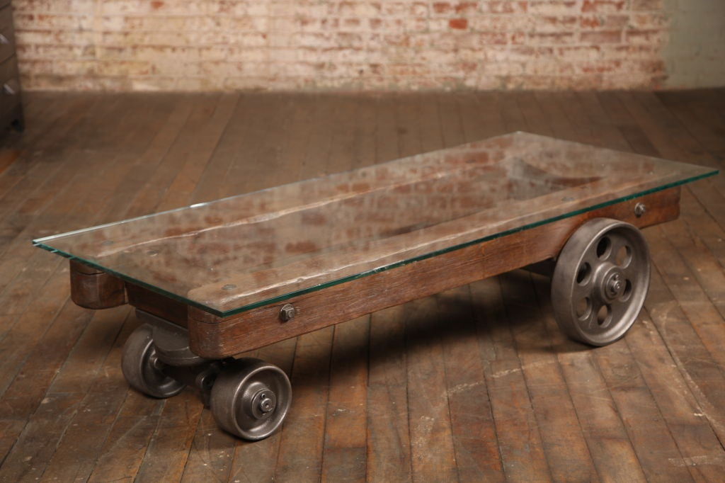 vintage industrial factory cart/coffee table at 1stdibs
