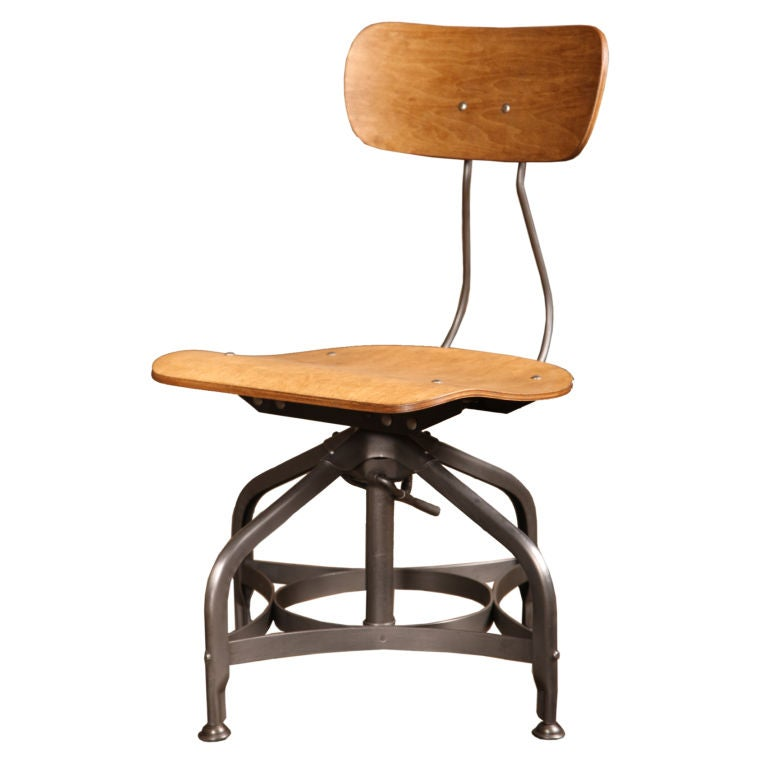 Vintage Industrial Adjustable Toledo Chair at 1stdibs
