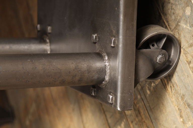 vintage industrial die lift cart on casters at 1stdibs