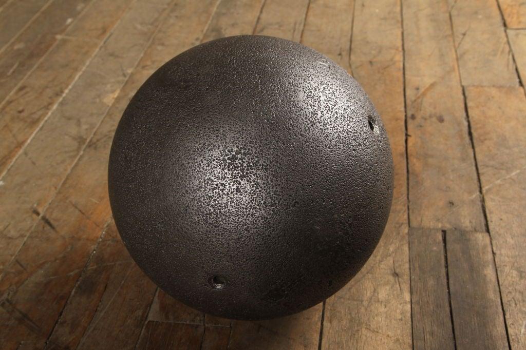 Vintage cast iron ball at stdibs