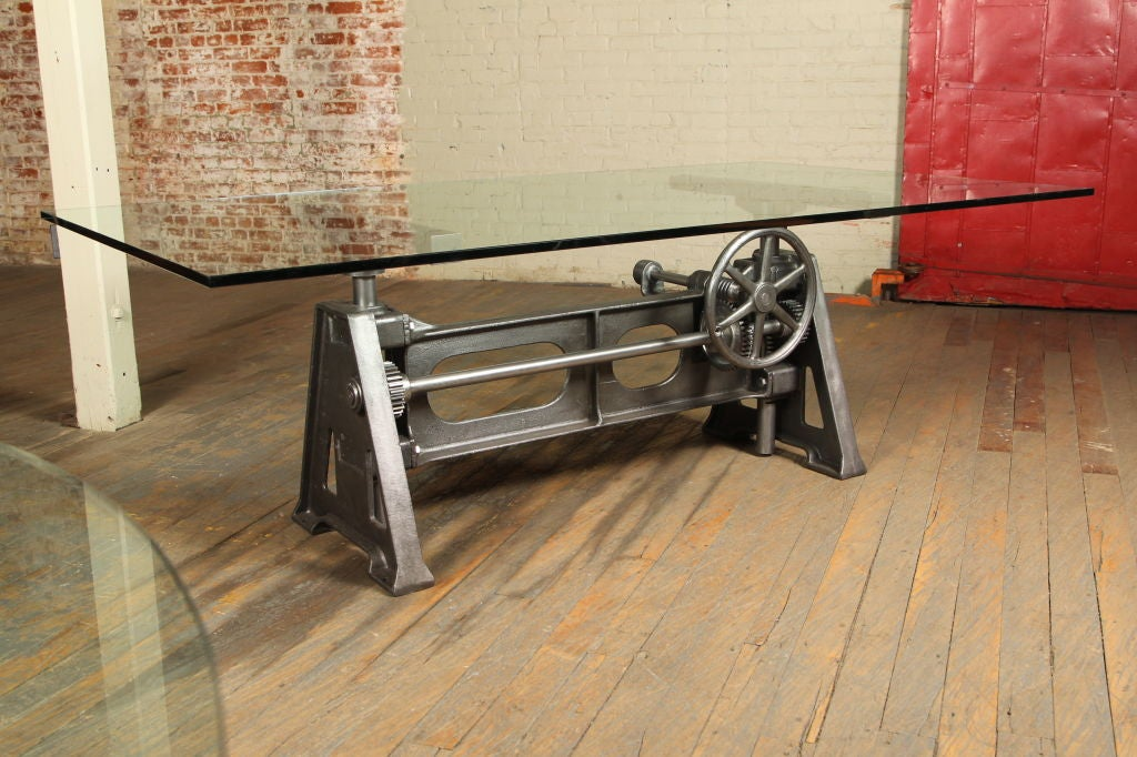 Vintage industrial adjustable table desk base this table desk base
