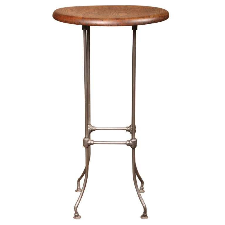 Vintage Industrial Stool with Wooden Seat at 1stdibs : XXX829913043662901 from 1stdibs.com size 768 x 768 jpeg 22kB