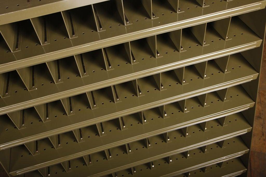 Steel Vintage Industrial Factory Sorting Cabinet For Sale