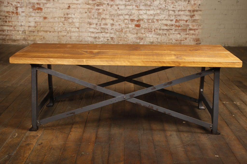 Industrial X Base Coffee Table Or Side Table For Sale At 1stdibs