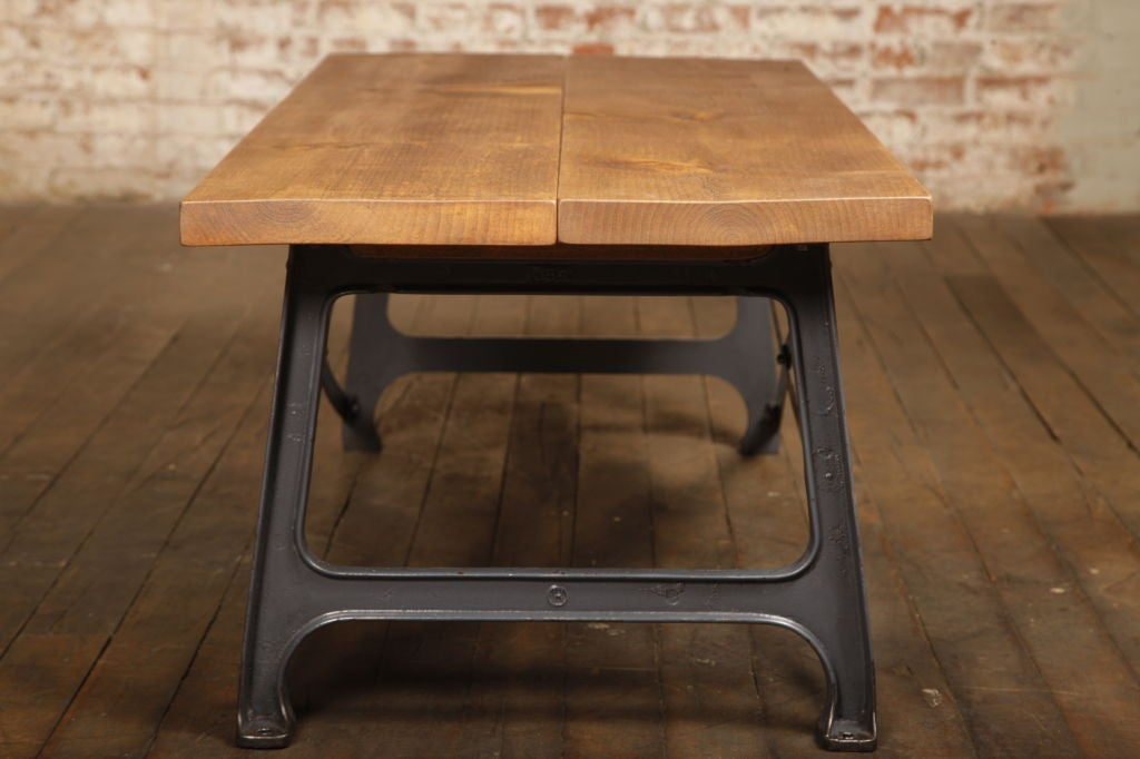 Vintage Industrial X Base Coffee Table At 1stdibs