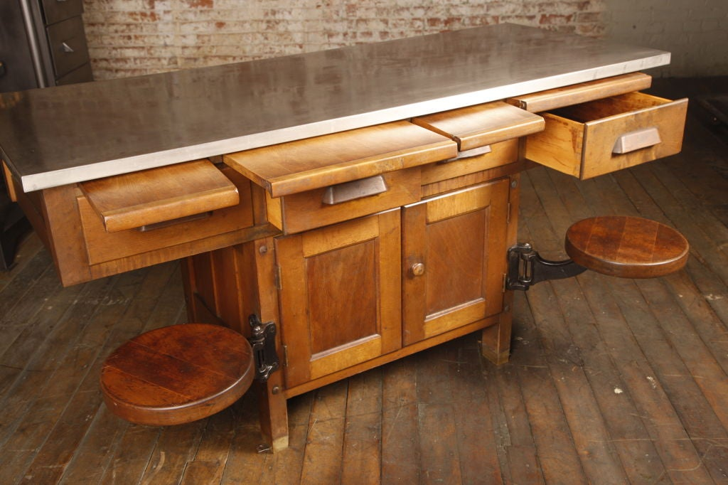 Original Vintage Industrial American Made School Lab Desk