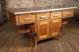 Original Vintage Industrial, American Made School Lab Desk thumbnail 2