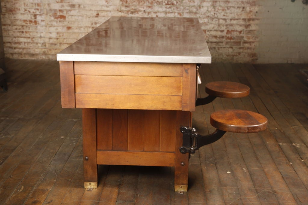 Original Vintage Industrial, American Made School Lab Desk image 4