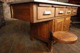 Original Vintage Industrial, American Made School Lab Desk thumbnail 5