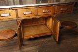 Original Vintage Industrial, American Made School Lab Desk thumbnail 7