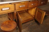 Original Vintage Industrial, American Made School Lab Desk thumbnail 9