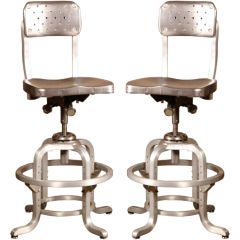 Original Vintage Industrial, American Made Good Form Adj. Stools