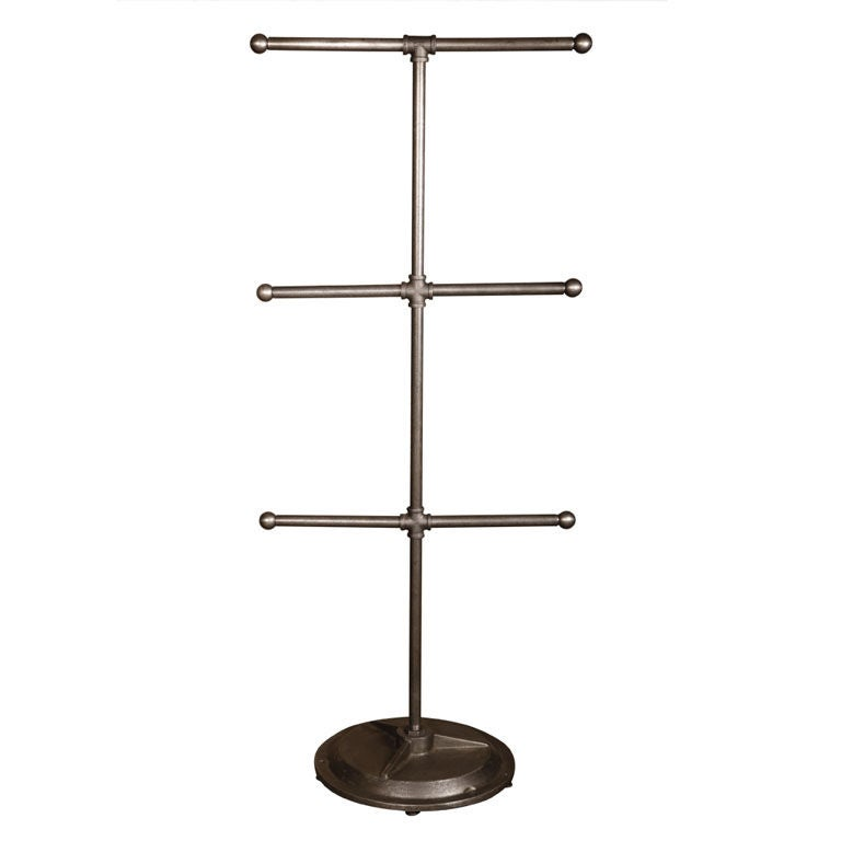 Quot dept vintage american made pipe fitting t stand at