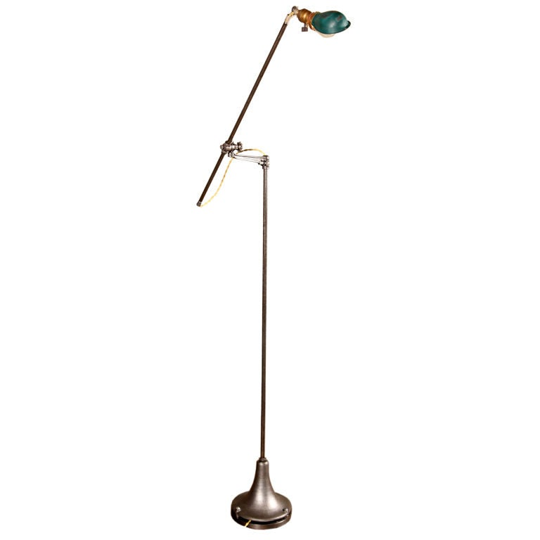 Task Light - Vintage Adjustable Industrial Metal Cast Iron Floor Lamp Reading