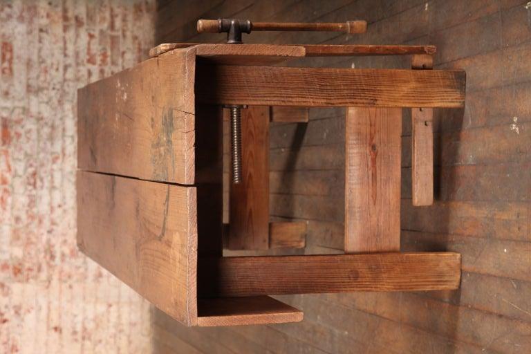Rustic Table Vintage Industrial American Made Carpenters ...