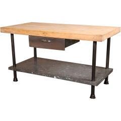 Original, Vintage Industrial, American Made Butcher Block Table