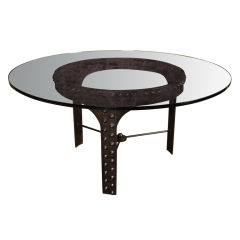 Vintage Industrial, Rivet Round Table Base