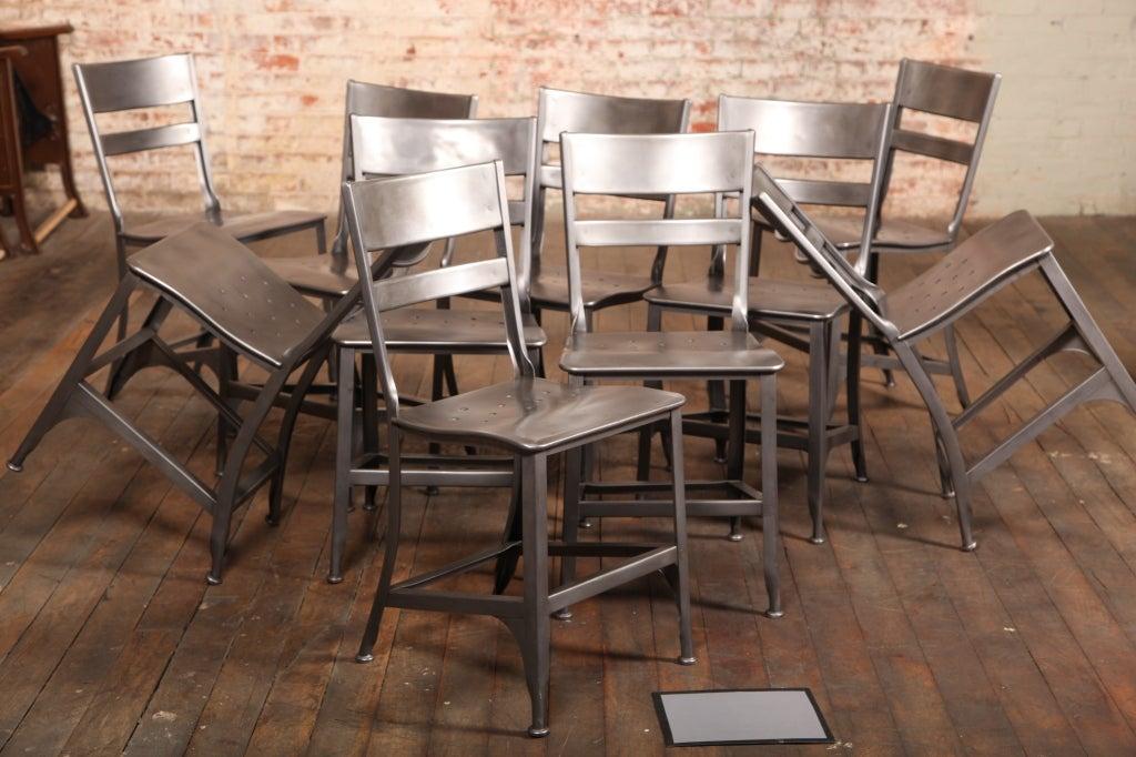 Set of Ten Original, Vintage Industrial, Metal Toledo Dining Side ...