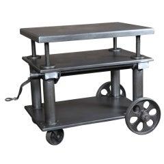Original, Vintage Industrial, American made, Portelvator Cart