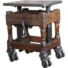 Original, Vintage Industrial, American Made, Adjustable Cart
