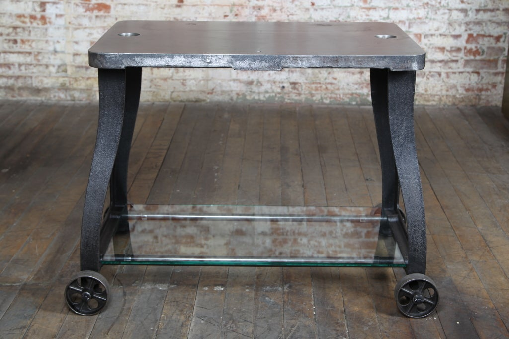 Original, Vintage Industrial, American Made, Console Table/Cart image 2