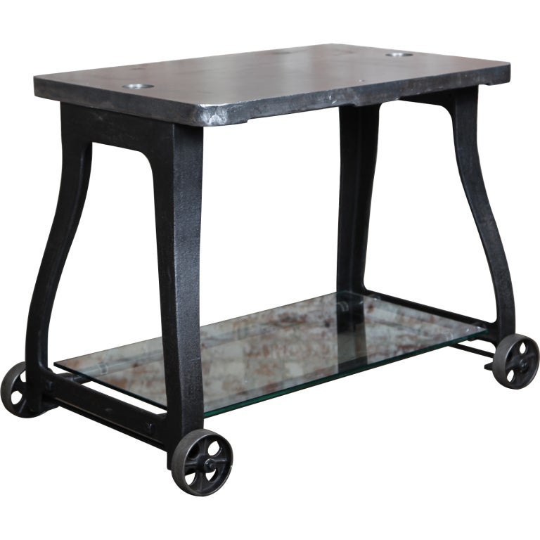Original, Vintage Industrial, American Made, Console Table/Cart