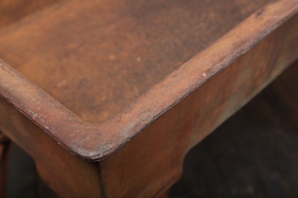 Original vintage industrial american made cast iron for Antique stone sinks for sale