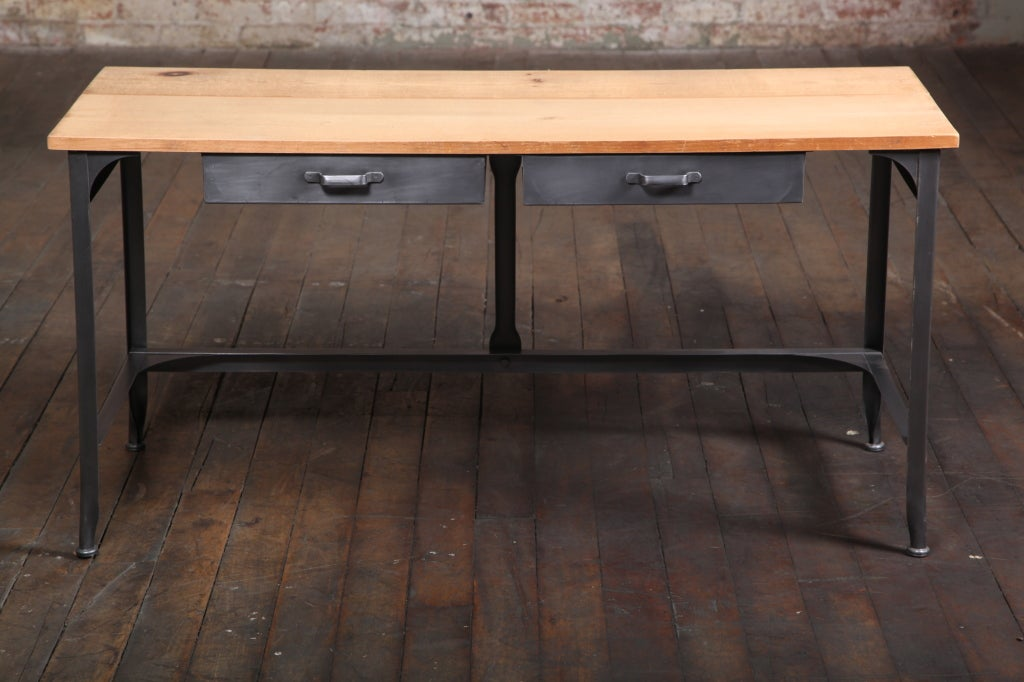 Student Work Desk Vintage Industrial American Made Steel