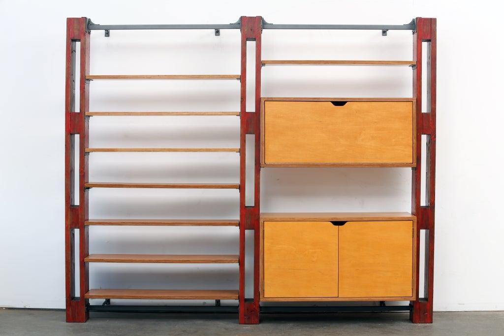 Modular Customizable Wall System Shelving Storage Unit