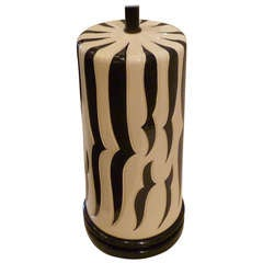 Monumental Zebra Stripe Table Lamp Style of Duquette