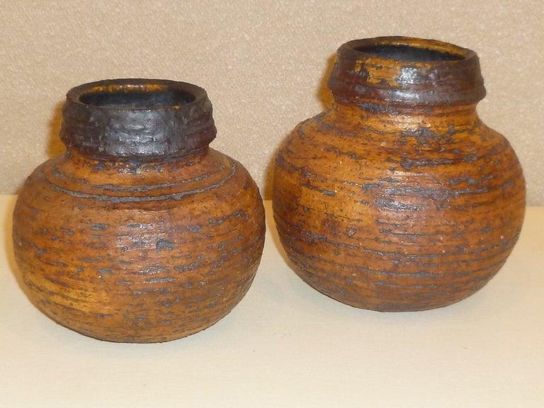 Finnish 1960s Auli Heinonen Chamotte Vases for Arabia For Sale