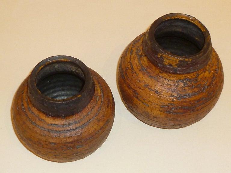 Scandinavian Modern 1960s Auli Heinonen Chamotte Vases for Arabia For Sale